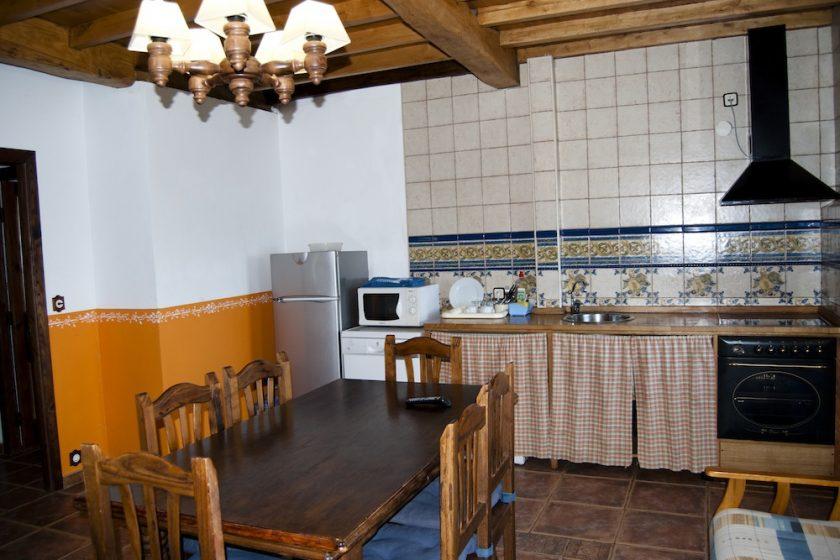 detalle cocina salón comedor